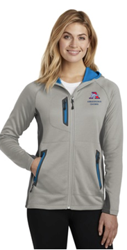 Picture of Eddie Bauer ® Ladies Sport Hooded Full-Zip Fleece Jacket( EB245 )