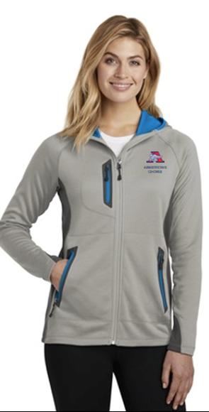 Picture of Eddie Bauer ® Ladies Sport Hooded Full-Zip Fleece Jacket( EB245 )