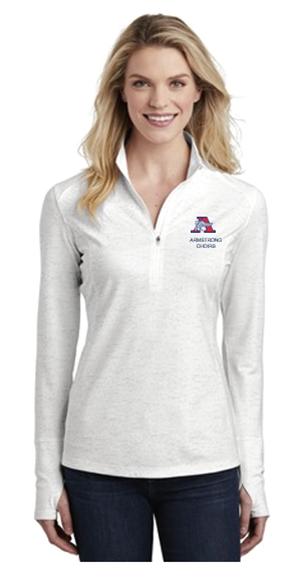 Picture of Sport-Tek ® Ladies Sport-Wick ® Stretch Reflective Heather 1/2-Zip Pullover( LST855)